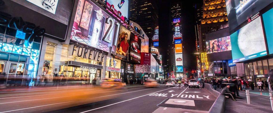 Compras em Nova York: Times Square