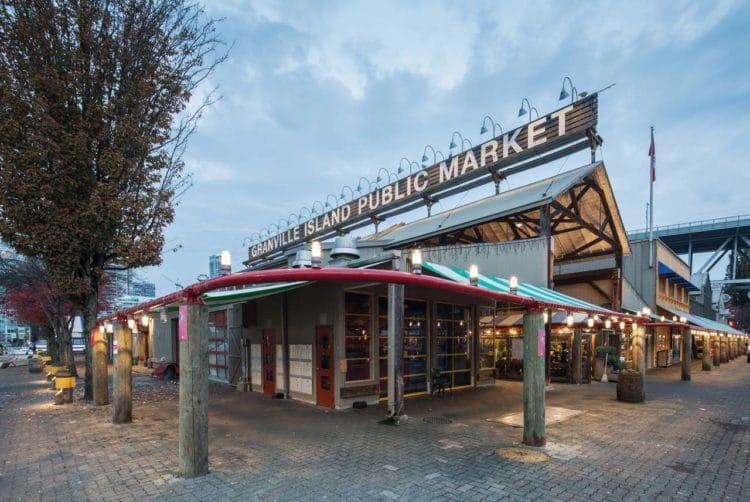 O mercado de Granville Island em Vancouver