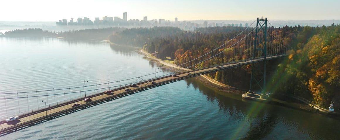 Lions Gate Bridge em Vancouver