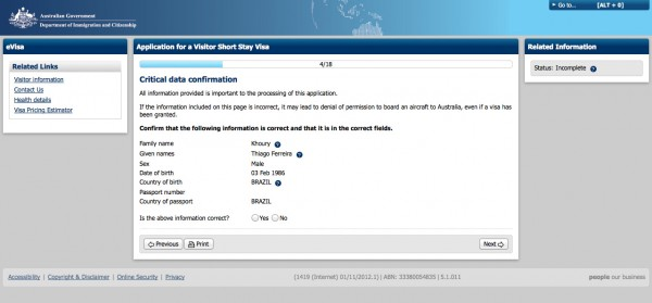 Como tirar o visto australiano pela internet