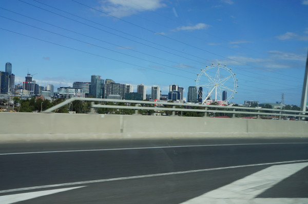 Chegando em Melbourne