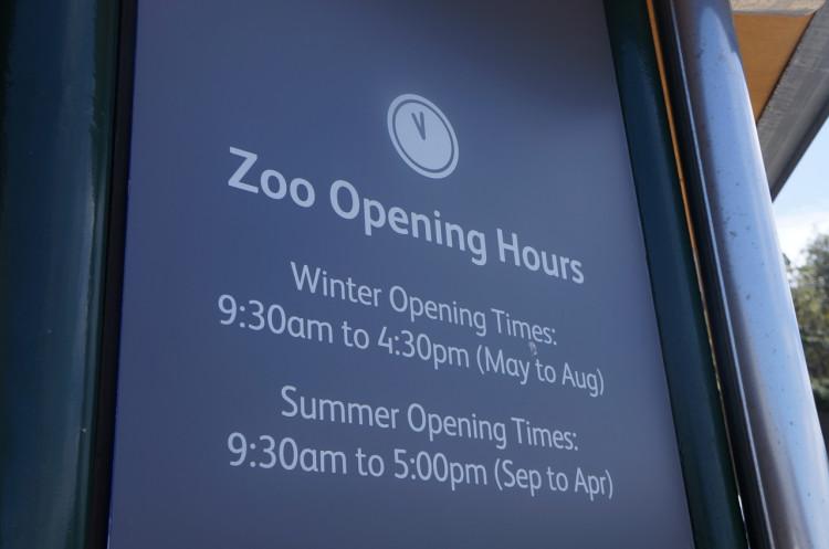 Horário de funcionamento do zoológico de Sydney