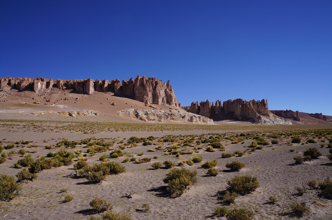 Monjes de la Pacana e Salar de Tara no deserto do Atacama