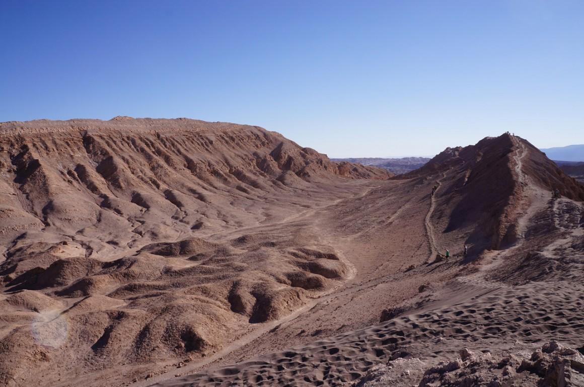 Valle de la Luna e Valle de la Muerte no deserto do Atacama