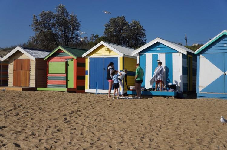 Brighton Beach em Melbourne
