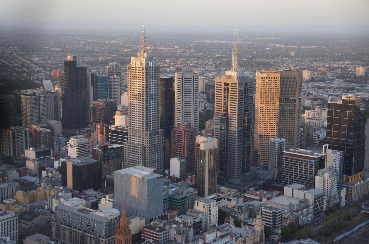 Melbourne das alturas: Eureka Tower e Beckett Park