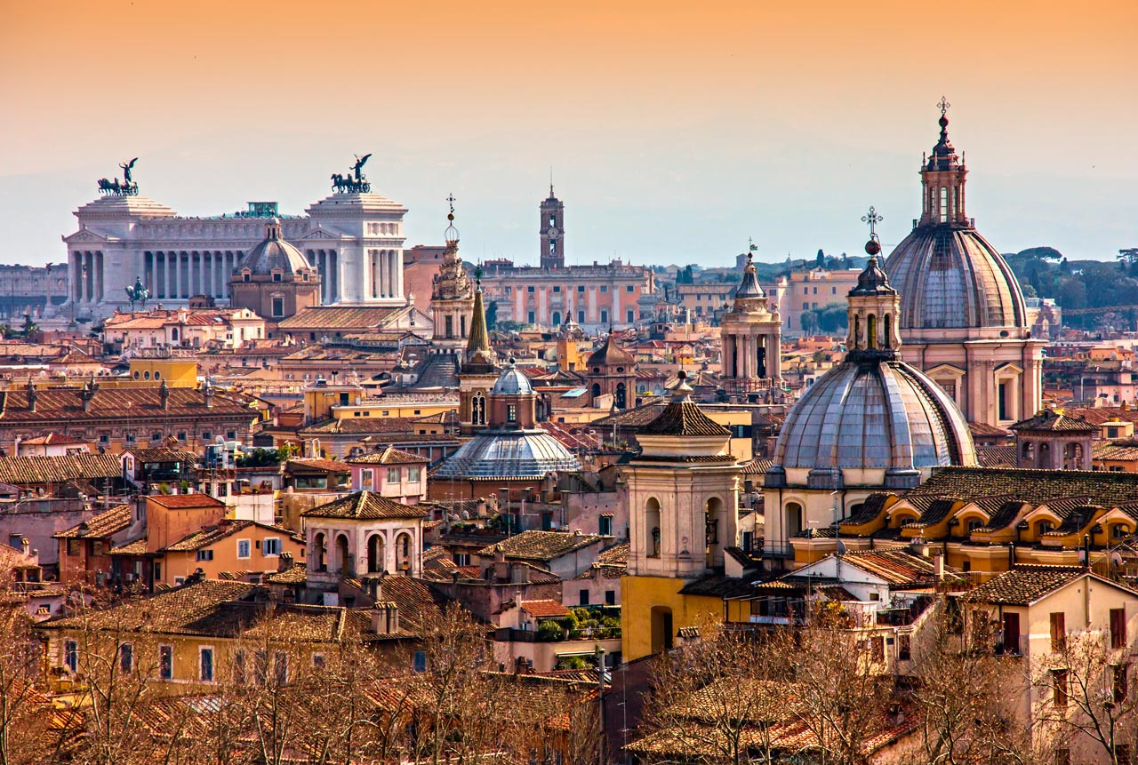 Para começar a rodar em Roma