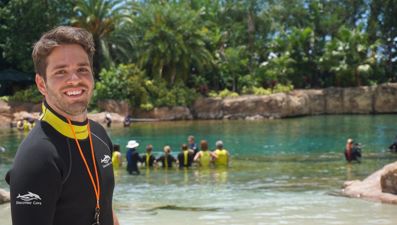 Minha primeira vez em Discovery Cove