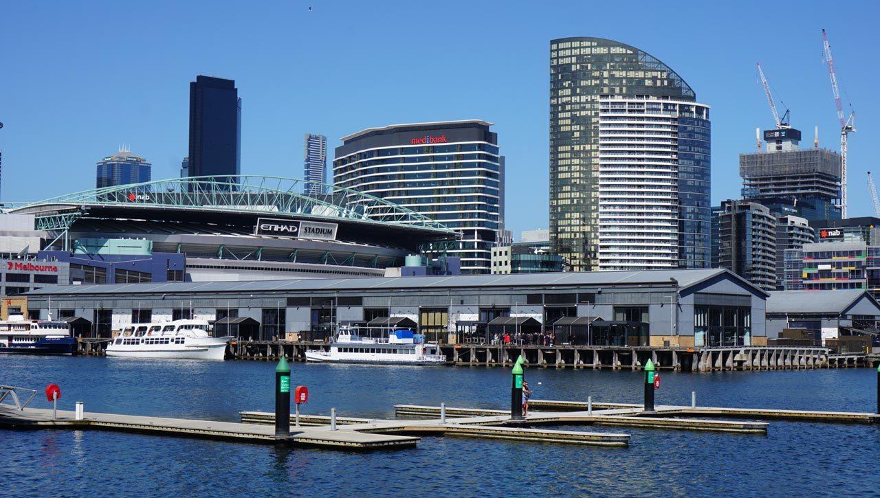 Docklands de Melbourne: como eu não conhecia isso antes?