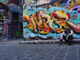 Ruas grafitadas em Melbourne