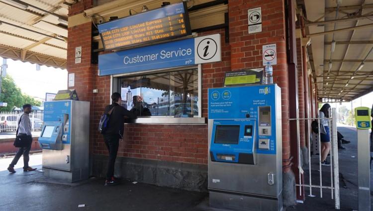 Trem em Melbourne