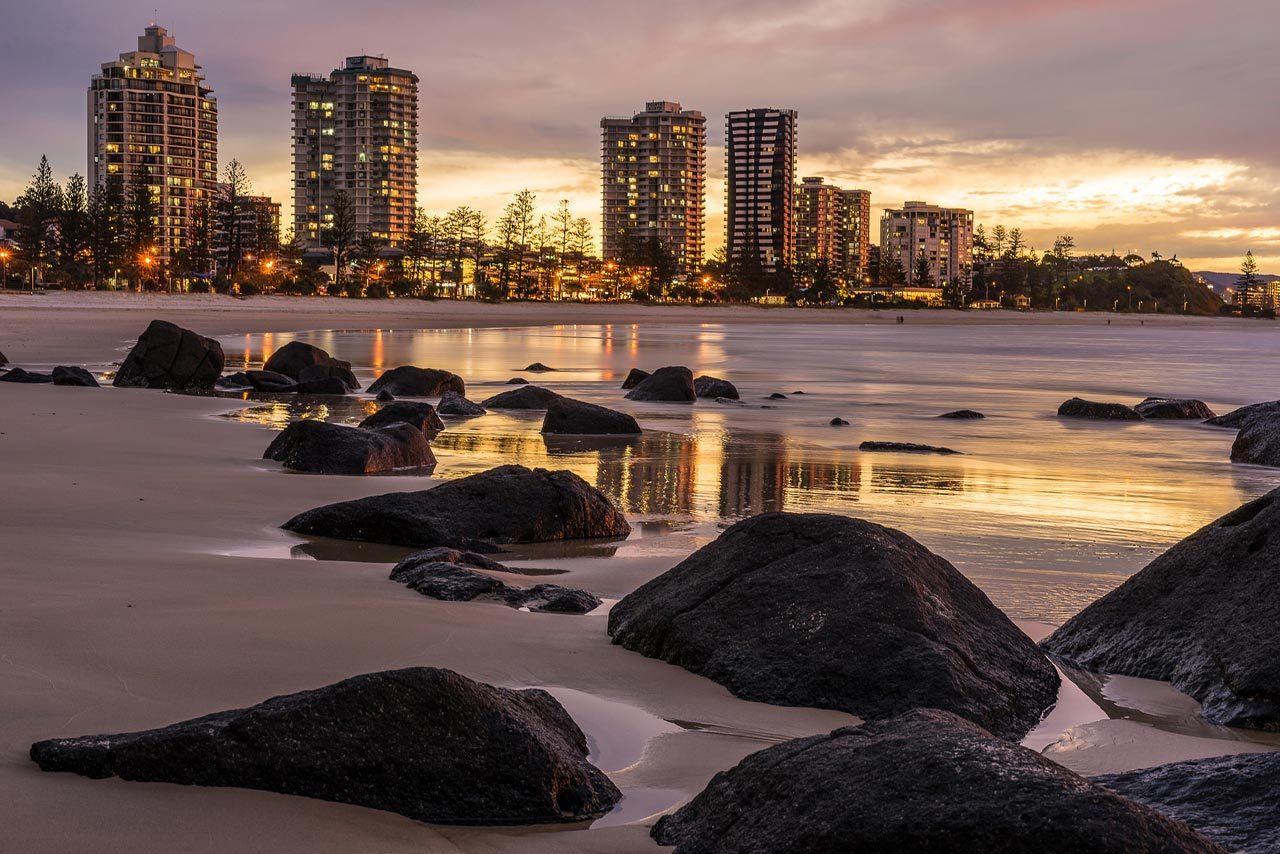 Coolangatta e outras praias de Gold Coast