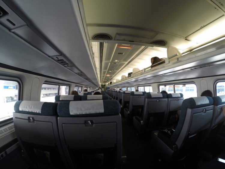 Como é andar de trem nos Estados Unidos