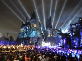 The Nighttime Lights at Hogwarts Castle no Islands of Adventure