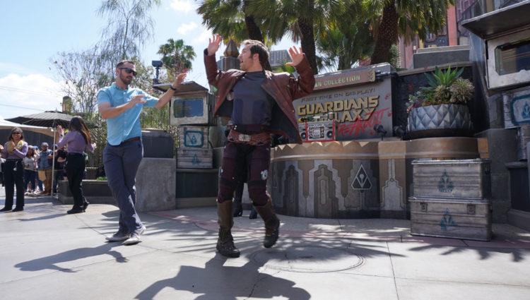 Star Lord na Disney da Califórnia