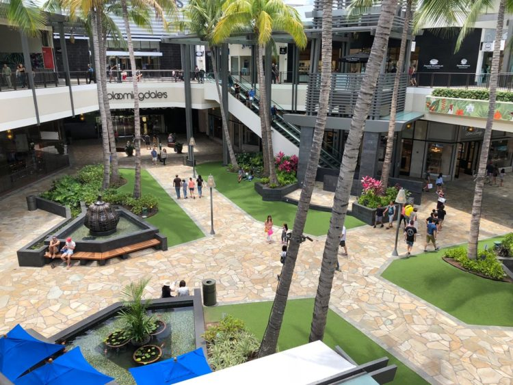 Shopping Ala Moana no Hawaii
