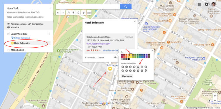 Usando o My Maps para fazer roteiros de viagem