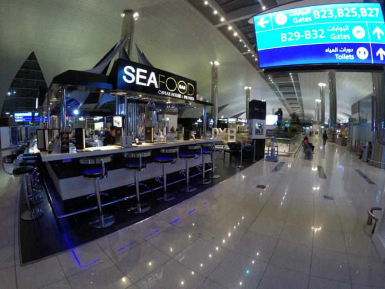 Conexão no aeroporto de Dubai