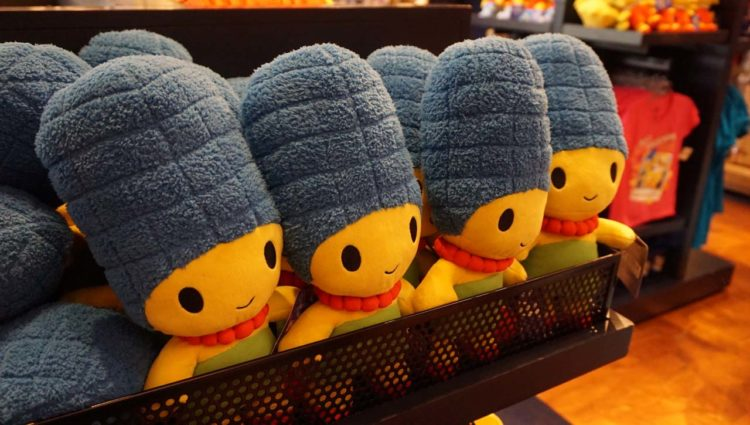 Produtos dos Simpsons nos parques da Universal