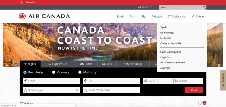 Programa de fidelidade da Air Canada