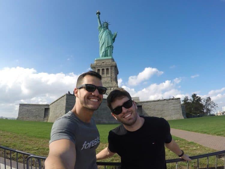 Lady Liberty em Liberty Island